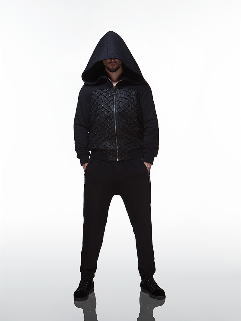 Pirarucu Skin Detailed Sweatsuit